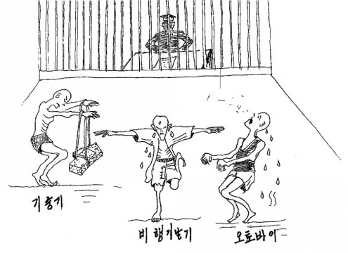 This is a picture used by Shin Dong Hyuk to convince the United Nations that human rights violations are practiced in the DPRK.