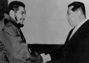 President Kim Il-Sung with President Ho Chi Minh of the Democratic Republic of Vietnam